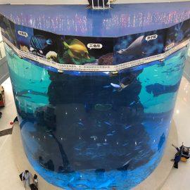 nuo 20 mm iki 500 mm storio akrilo plokščių šiuolaikinėms didelėms žuvims