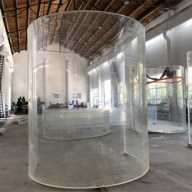 išlenktas liuksito akrilo plexi stiklo plokštė akvariumui