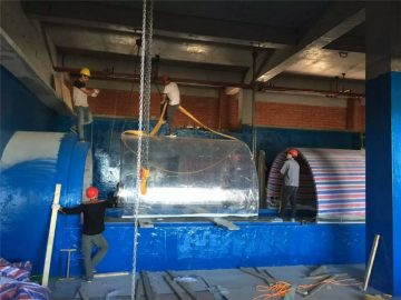 akvariumo akvariumo akumuliatoriaus plastiko projekto tunelis